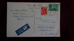 Israel - 1957 - Postal Stationery With Additionel Postage - Look Scan - Covers & Documents