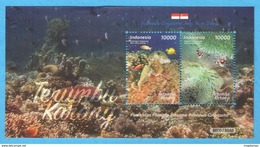 INDONESIA 2017-10 JOINT ISSUE W/ SINGAPORE MARINE LIFE CORAL SS SOUVENIR SHEET STAMPS MNH - Indonésie