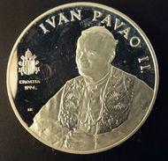"CROATIA 100 KUNA 1994 SILVER PROOF ""Pope John Paul II"" Free Shipping Via Registered Air Mail - Croatia"