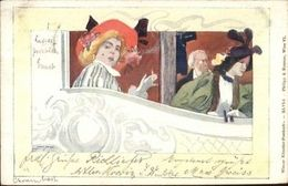 Philipp & Kramer XLVI-1 Art Nouveau Beautiful Woman Smoking Cigarette PC Jrf - Illustratoren & Fotografen
