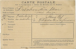 WWI - Carte Postale Pour La Correspondance à ..........  Addressée à Saintes ( Charente Maritime ) - Military Service Stampless