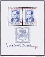 MiNr.124 (Block 3) TSCHECHISCHE REP. 60. Geburtstag Von Václav Havel MNH / ** / POSTFRISCH - Czech Republic
