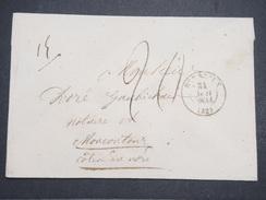 FRANCE - Env Taxée De Bordeaux Pour Moncontour (Côte Du Nord) - Cachet Sans Fleuron - Juin 1834 - P22133 - Marcophilie (Lettres)