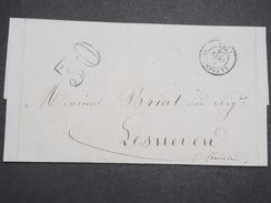 FRANCE - Env Taxée 30 De Landerneau Pour Lesneven (Finistère) - PC - Janv 1855 - P22134 - Marcophilie (Lettres)