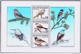 Mi.Nr.349 (Block13) SLOWAKEI Naturschutz - Singvögel  MNH / ** / POSTFRISCH - Slowakische Republik