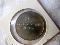 Suisse: 5 Francs 1990 - Pièce Commémorative Gottfried Keller - Svizzera