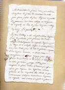 Mademoiselle De Fresné à Madame Du Motté En Faveur Des Dames Abbesses Et Religieuses De Vignats.(vers 1750)2 Pages. - Documents Historiques