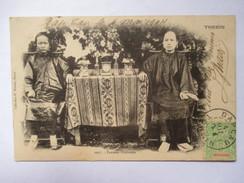 VIET-NAM  - TONKIN   -   FEMMES  CHINOISES              TRES  ANIME        TTB - Vietnam