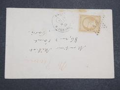 FRANCE - Env Paris Pour Paris Avec N° 13 étoile De Paris 15 - A étudier - Mars 1865 - P22139 - Marcophilie (Lettres)