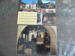 Lot De 2 Cartes - Sainte Nathalene - Sarlat - Moulin La Tour - Fabrication D'huile De Noix - Sonstige Gemeinden