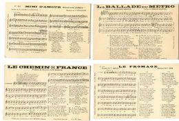 V5 - Lot De 9 CPA Paroles Et Partition De Musique  - Voir Description... - Musique Et Musiciens