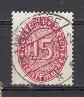 """Deutsches Reich 15 Pf  Ziffer Oval  1927/9  - """"Müllrose"""" 2 Kreis O - Dienstpost"""