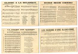V5 - Lot De 9 CPA Paroles Et Partition De Musique  - Voir Description... - Music And Musicians