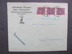BRIEF Remscheid - Wildenschwert 1923 3x20 MeF ////  D*28299 - Deutschland