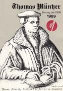 ALLEMAGNE - THOMAS MÜNTZER  1989 - BLOCK Mi N° 97 - Mi N° 3269-3273 /1 - Storia Postale