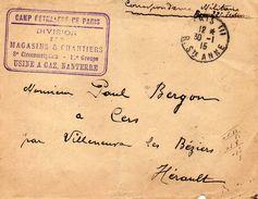 Camp Retranché De PARIS.(Courbevoie) - Postmark Collection (Covers)
