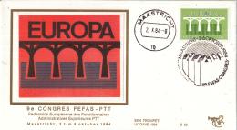Nederland - Trompet S58 -  9e Congres FEFAS - PTT - Maastricht 2 T/m 6 Oktober 1984 - NVPH 1308 - Post
