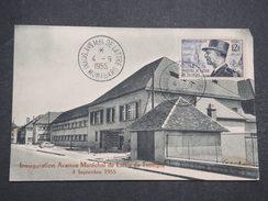 FRANCE - Carte Postale Avec Cachet Commémoratif Inauguration De L'av Maréchal De Lattre De Tassigny - Sept 1955 - P22146 - Marcophilie (Lettres)