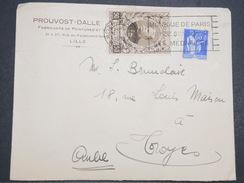 FRANCE - Env De Lille Pour Troyes Avec Vignette Joffre (couleur Brune) - Nov 1938 - P22147 - Erinnophilie