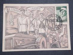 ALGERIE FRANçAISE - Carte Max La Légion étrangère Au Sahara - Avril 1954 - P22149 - Algérie (1924-1962)