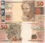 "BRAZIL    50 Reais   P256   New Signatures   ""Onca Pintata....cheetah  At Back""  UNC - Brasile"
