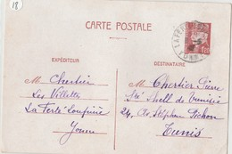 Entier Postale De 1f20 Pour La Tunisie - 1941-42 Pétain