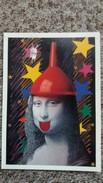 CPM TABLEAU MONA LISA DETOURNE PARIS C EST FOU IMAGE IN  ENTONNOIR - Paintings