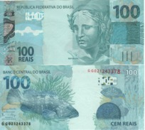 "BRAZIL   100 Reais   P257c   New Signatures   ""Garoupa -fish  At Back""  UNC - Brasile"
