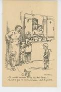 """GUERRE 1914-18 - Jolie Carte Fantaisie Enfants """"Te Voilà Encore Dans Un Bel état..... """" Signée POULBOT - Poulbot, F."""