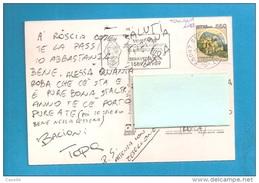 ITALIA STORIA POSTALE 1989 TARGHETTA CENTENARIO ARCICONFRATERNITA DI MISERICORDIA SERAVEZZA VERSILIA - 1981-90: Storia Postale