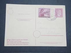 ALLEMAGNE - Carte Avec Entier Et Complément D'affranchissement Commémoratif Du Combat Du Füher - Avril 1945 - P22154 - Allemagne