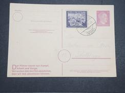 ALLEMAGNE - Carte Avec Entier Et Complément D'affranchissement Commémoratif Du Combat Du Füher - Avril 1945 - P22155 - Allemagne