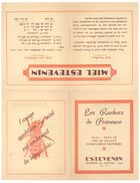 """Feuille Publicitaire  """" Les Ruchers De Provence """", Estevenin, Morières Les Avignon ( Miel, Abeilles ) - Publicités"""