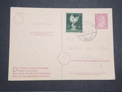 ALLEMAGNE - Carte Avec Entier Et Complément D'affranchissement Commémoratif Du Combat Du Füher - Avril 1945 - P22161 - Allemagne