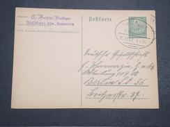ALLEMAGNE - Carte Avec Entier 6 Cts Hindembourg - Voyagée - Janv 1935 - P22163 - Entiers Postaux