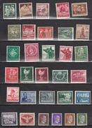 ALLEMAGNE * 1943 -1944 LOT DE 31 TIMBRES DIFFERENTS - Deutschland