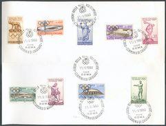 OLYMPICS - Carte Avec Série N°812/820 - Jeux Olympique De ROME Sur Carte Avec Oblitération Commémorative 11-9-1960 - 122 - 6. 1946-.. Republic