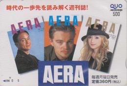 Carte Prépayée Japon - Vedette De Cinema - DI CAPRIO & Takarazuka Actress - Japan Movie Prepaid QUO Card - KINO - 9639 - Kino