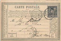 75 PARIS   Carte Précurseur 1878 2scans - Francia