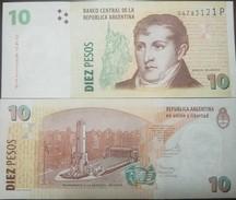 O) 2016 ARGENTINA, BANKNOTE 10 PESOS ARP, GENERAL BELGRANO-MONUMENT TO THE FLAG -IN ROSARIO- MUSICAL INSTRUMENT, PAPER M - Argentina
