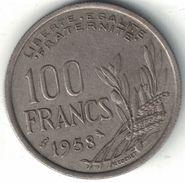 France 100 Francs 1958 (Owl Privy Mark) - N. 100 Francs