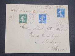FRANCE - Env Chargée Le Lavandou Pour Epernay - Joliment Affranchie Avec Sceaux Au Dos - Juil 1909 - P22165 - Marcophilie (Lettres)