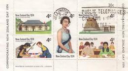 NEW-ZELAND DAY 1974 - BLOC COMMEMORATING   / 6623 - Blokken & Velletjes