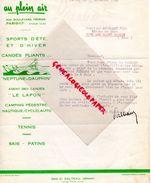75-PARIS-RARE LETTRE AU PLEIN AIR-204 BD PEREIRE- CANOE NEPTUNE & DAUPHIN-LE LAPON-TENNIS-SKI-MICHALET VAUX SAINT CLAUDE - Alimentaire