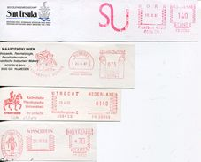 28298 Nederland, 4 Cuts !! Red Meter/freistempel/ema/ Nederland Religion, Christianity, , See Scan - Christianity