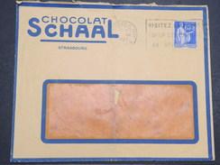 FRANCE - Env Avec Entête Chocolat SCHAAL De Strasbourg Pour Bar Sur Aube - Dec 1937 - P22168 - 1921-1960: Période Moderne