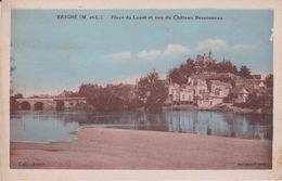 LB 39 : Maine Et Loire :  ERIGNE : Place  Du Louet Et Vue  Château  Bessonneau - Other Municipalities