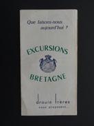 EXCURSIONS BRETAGNE DROUIN FRERES - 1950 - ...