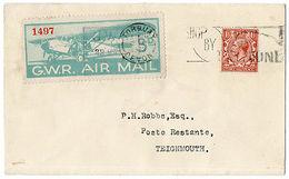 (I.B) Cinderella Collection : GWR Air Mail Cover (Birmingham - Teignmouth 1933) - Non Classés