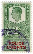 (I.B) George VI Revenue : Police Courts 2/- - 1902-1951 (Koningen)